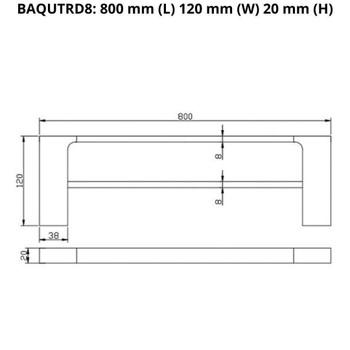 Que - Chrome Double Towel Rail 800mm
