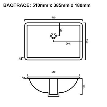 Trace - White Undermount Basin