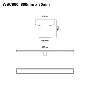 Tile Insert Channel 800mm