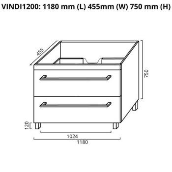 Indi - Vanity Only 1200mm