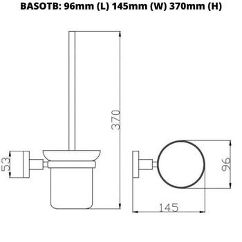 Sofia - Black Toilet Brush and Holder