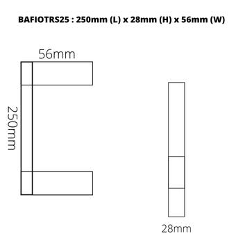 Fiona - Chrome Single Towel Rail 250mm