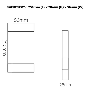 Fiona - Gun Metal Single Towel Rail 250mm