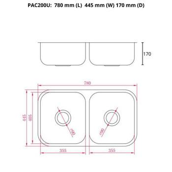 Pacific 200 - Undermount Sink