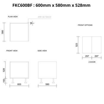 Farmhouse Base Cabinet 600mm