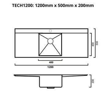 Tech 1200 - Stainless Steel Undermount Sink