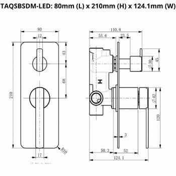 Sofia - Chrome Bath/Shower Mixer With Diverter LED