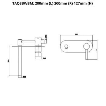Sofia - Chrome Wall Basin/Bath Mixer With Spout LED