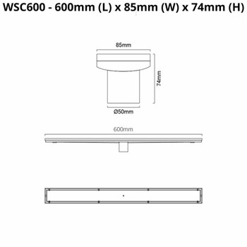 Tile Insert Channel 600mm