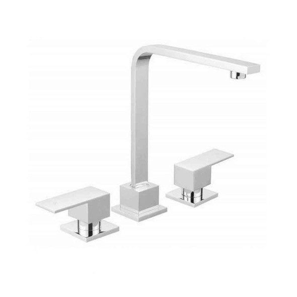 Square - Chrome Hob Sink Set