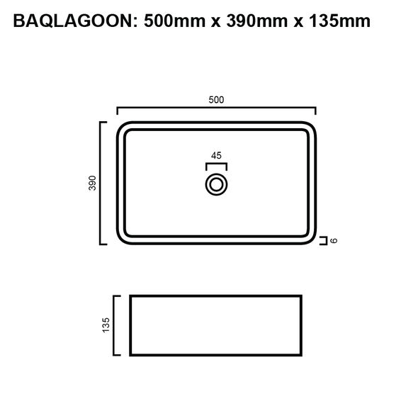 Lagoon - White Above Counter Basin