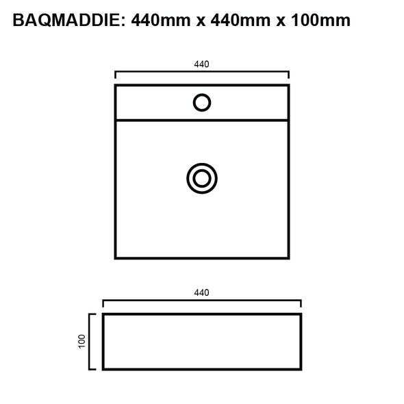Maddie - White Above Counter Basin