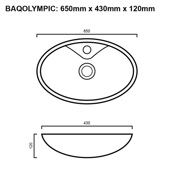 Olympic - White Above Counter Basin