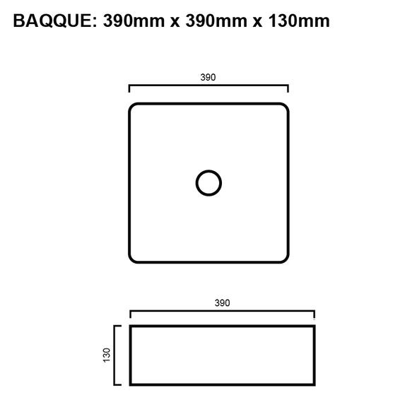 Que - White Above Counter Basin