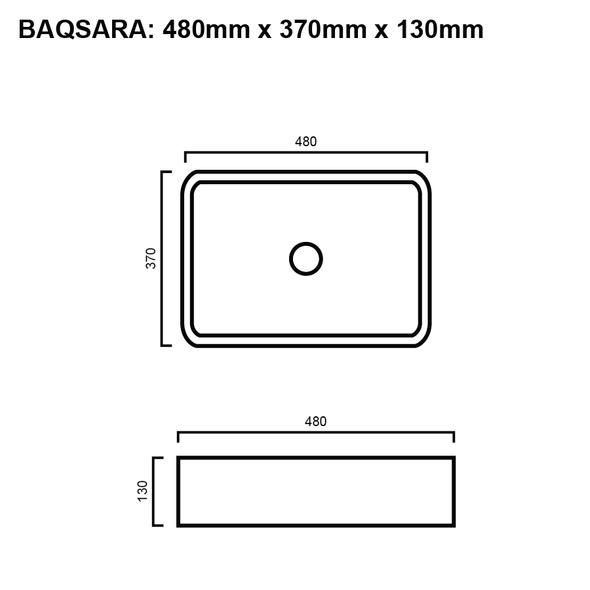 Sara - Black Above Counter Basin