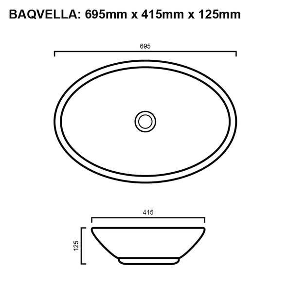 Vella - White Above Counter Basin