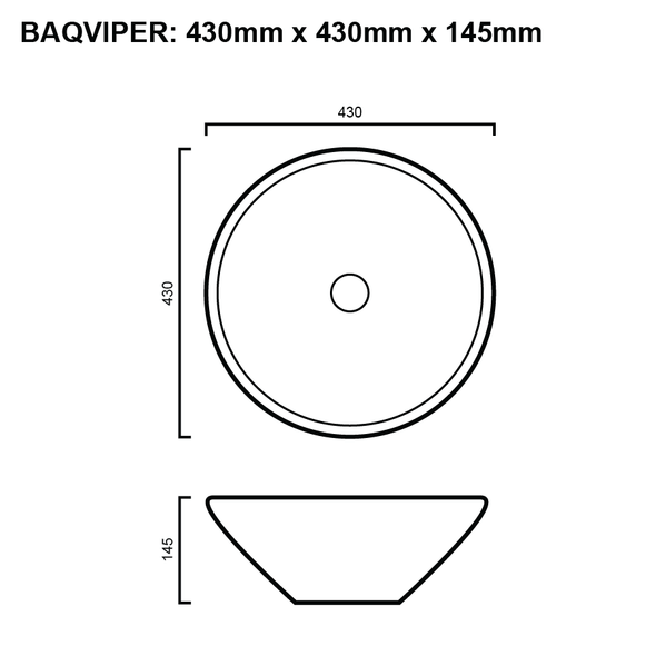 Viper - White Above Counter Basin