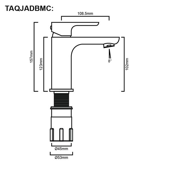 Jade - Chrome Basin Mixer