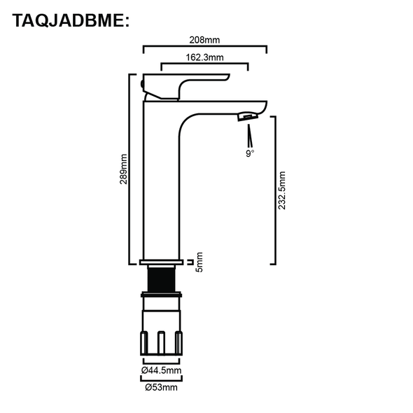 Jade - Chrome Extended Basin Mixer