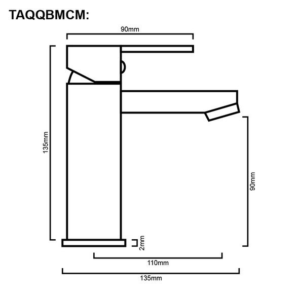Quadro - Chrome Mini Basin Mixer