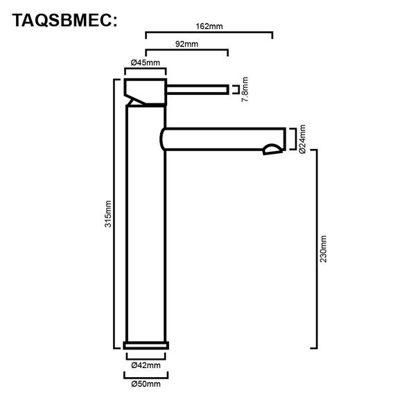Sofia - Chrome Extended Basin Mixer