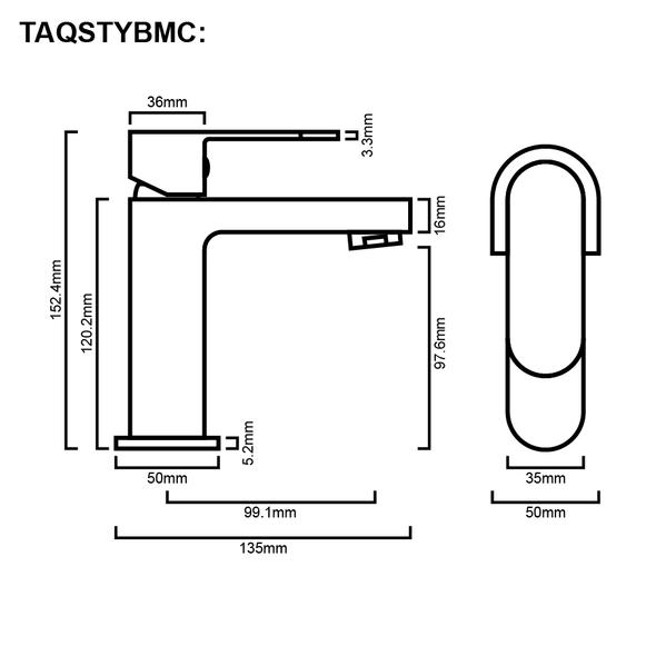 Style - Chrome Basin Mixer
