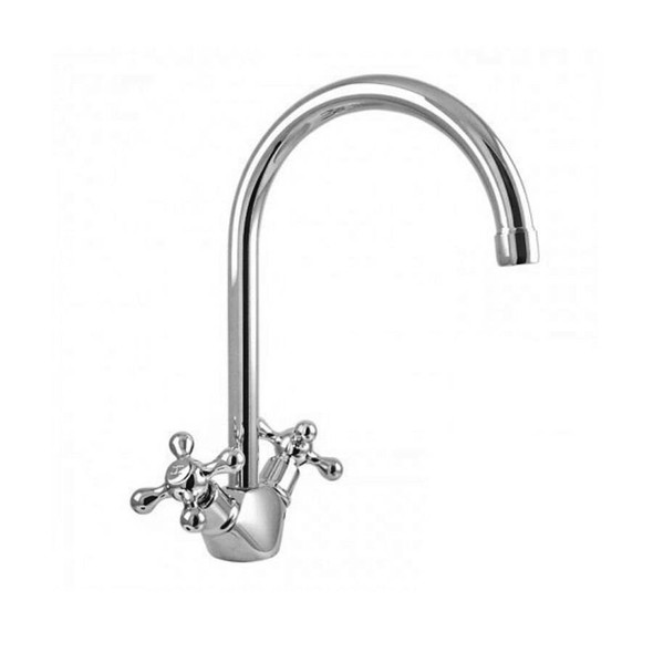 Aquila - Chrome Twinner Swivel Basin Mixer