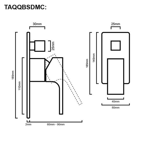 Quadro - Chrome Bath/Shower Mixer With Diverter