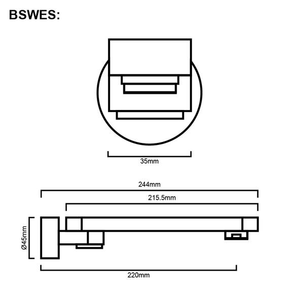 Erin - Chrome Swivel Bathroom Spout