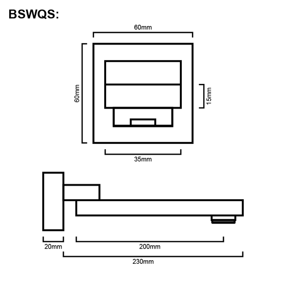 Quadro - Chrome Swivel Bathroom Spout
