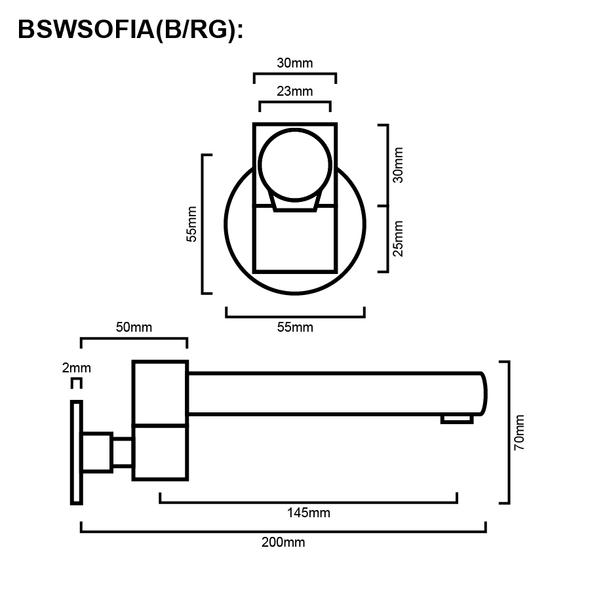 Sofia - Black Swivel Bathroom Spout