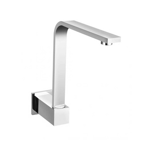 Square - Chrome Swivel Bath Spout