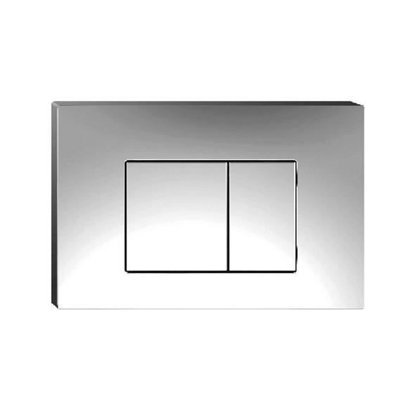 Berlin - Square Chrome Flush Buttons