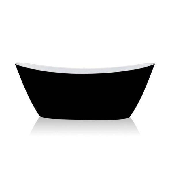 Denise - Black Freestanding Bath 1500mm