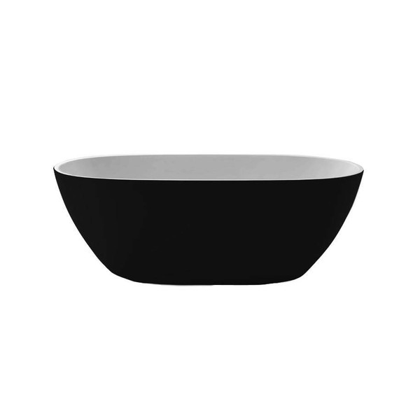 Oval - Black Freestanding Bath 1500mm