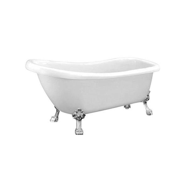 Slipper - White Freestanding Bath 1550mm