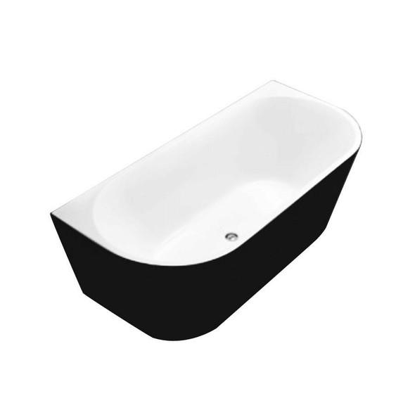 Sofia - Black Freestanding Bath 1500mm