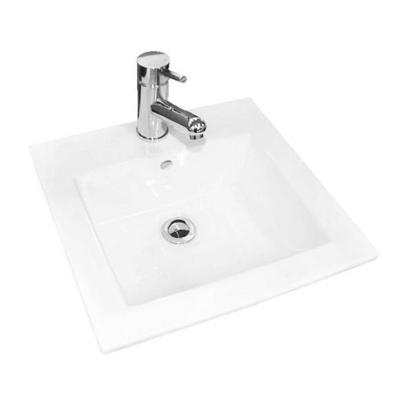 Cube - White Inset Basin