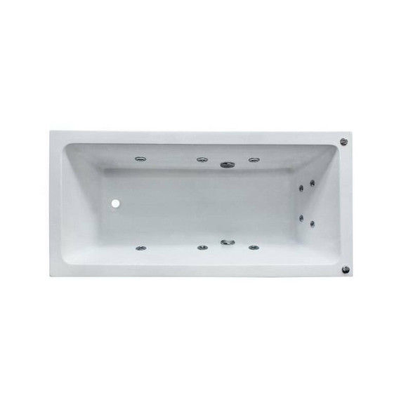 Shelly - White Inset Spa Bath 1650mm