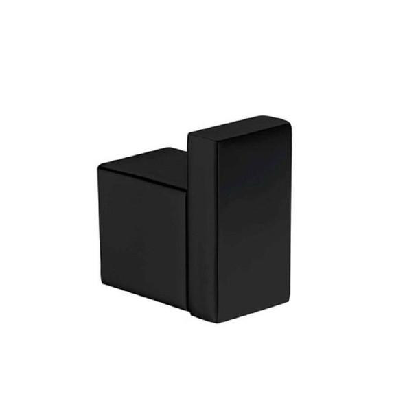 Square - Black Single Robe Hook