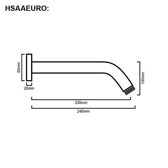 Euro - Chrome Shower Arm