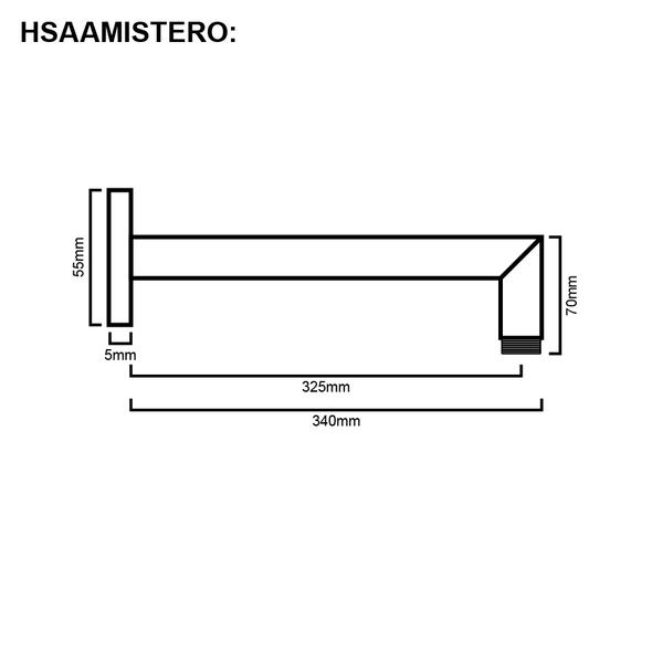 Mistero - Chrome Shower Arm
