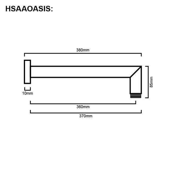 Oasis - Chrome Shower Arm