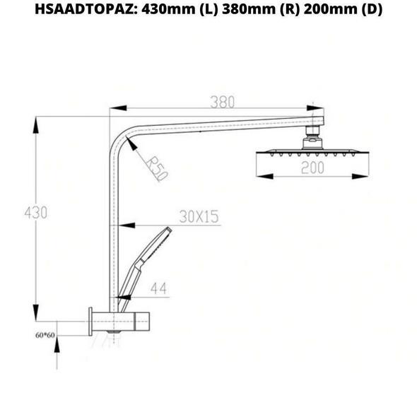 Topaz - Black Shower Set