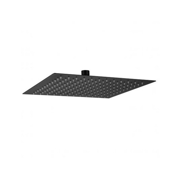 Silas - Black Stainless Steel Shower Head 200mm