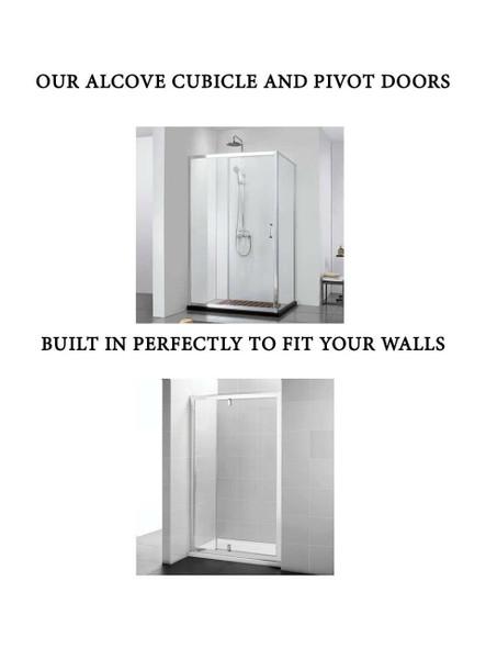 Alcove Shower Pivot Door 1000mm