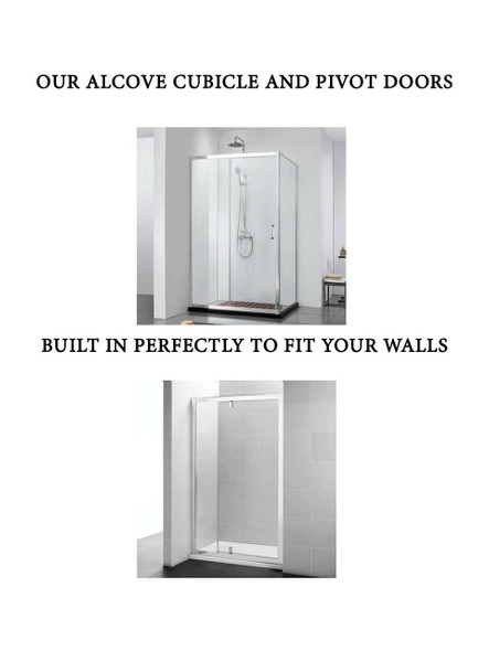 Alcove Shower Pivot Door 900mm