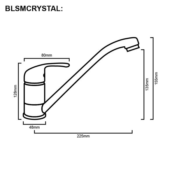 Blanco Crystal - Chrome Sink Mixer