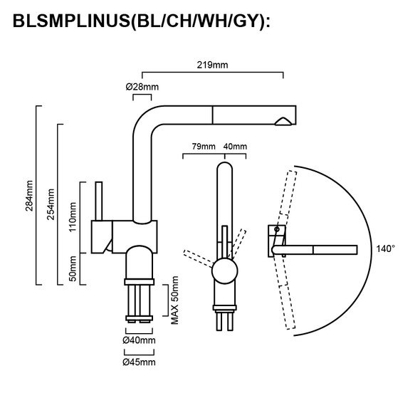 Blanco Linus - Black Pullout Sink Mixer