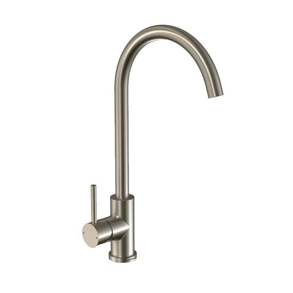 Neptune - Brushed Nickel Gooseneck Sink Mixer